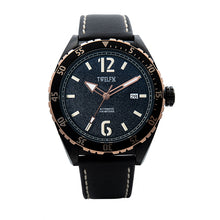 Load image into Gallery viewer, TWELF-X OCEAN 1908 DEEP WAVE - BLACK/ROSE GOLD Front