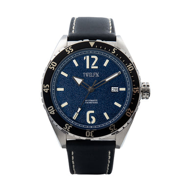TWELF-X OCEAN 1908 DEEP WAVE - BLUE/STAINLESS STEEL Front