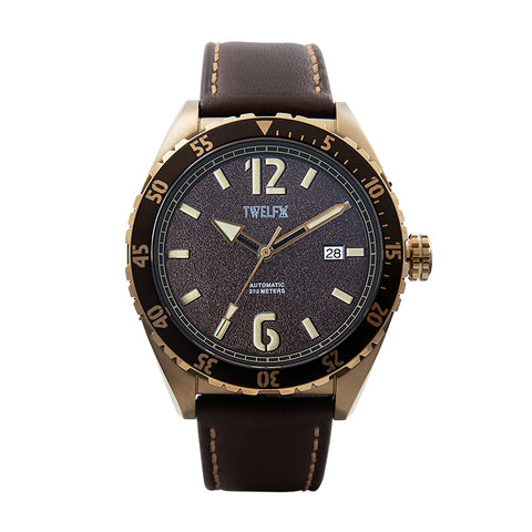 TWELF-X OCEAN 1908 DEEP WAVE - BROWN/BRONZE Front