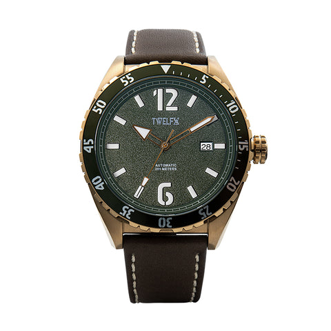 TWELF-X OCEAN 1908 DEEP WAVE - GREEN/BRONZE Front
