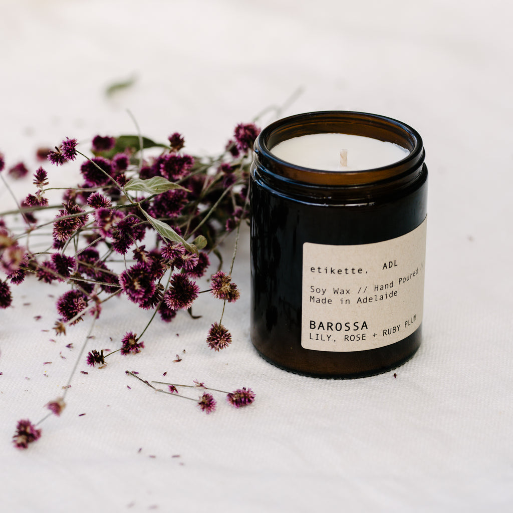 Barossa Candle - Lily,Rose & Ruby Plum