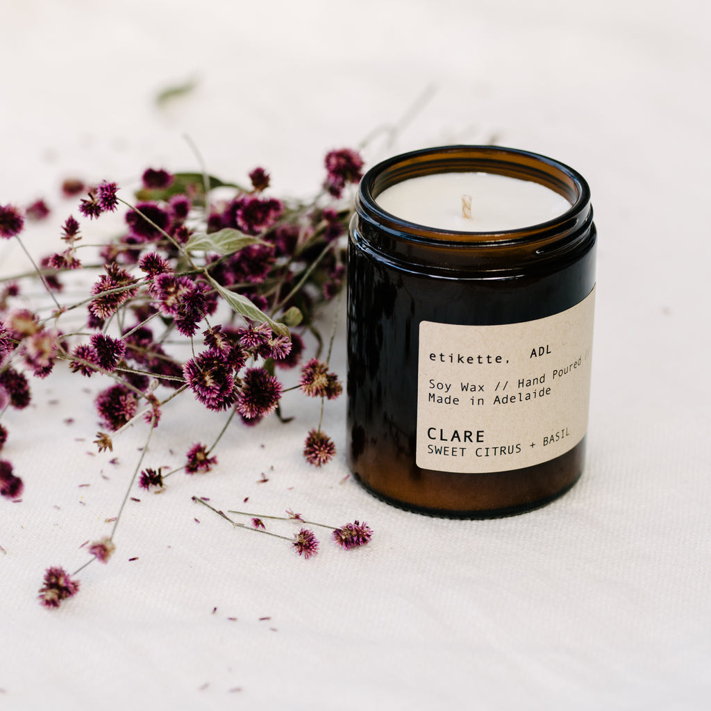 Clare Candle - Sweet Citrus & Basil