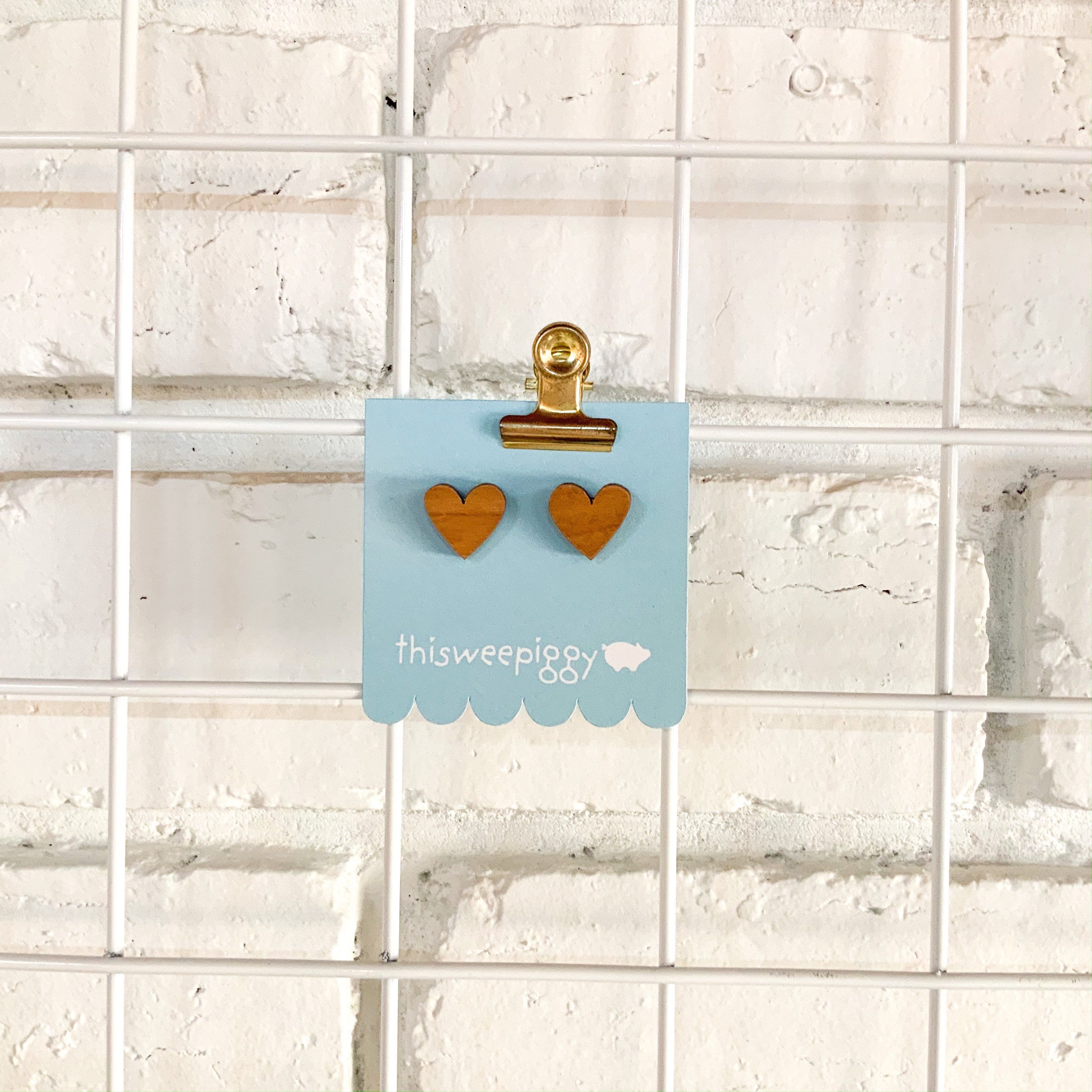 Love Heart Shaped Stud Earrings
