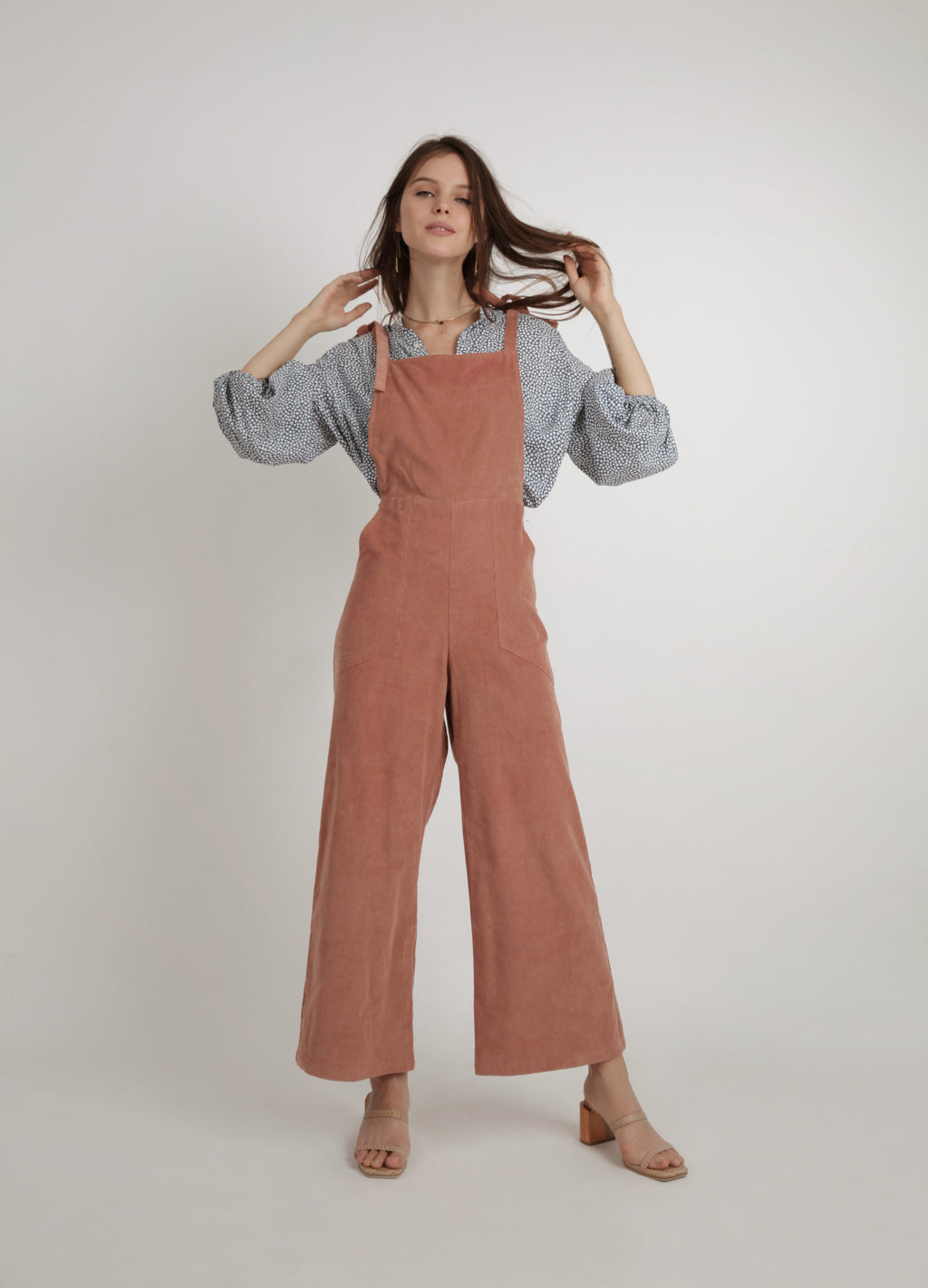 Faye Cord Jumpsuit - Rosewood