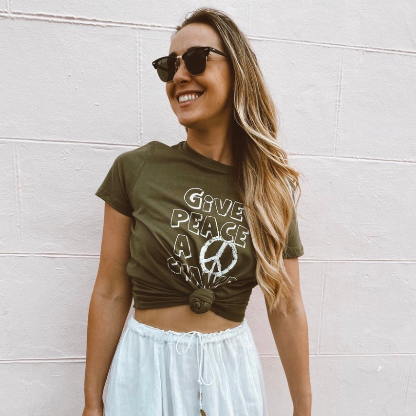 Give Peace A Chance Ladies Tee