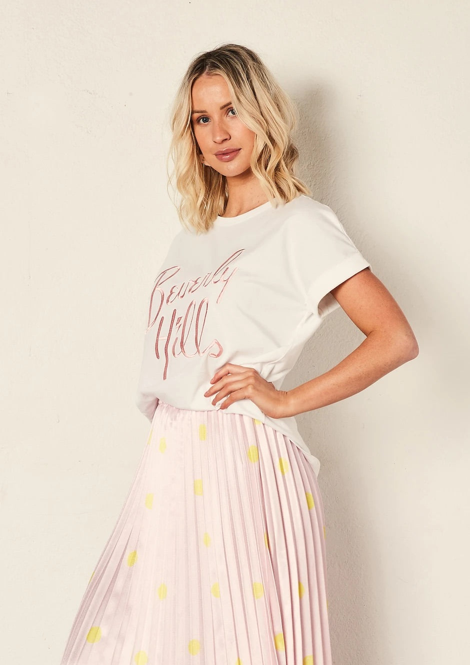 Pink / with yellow spot - Sunray Skirt
