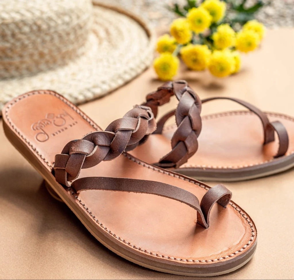 Greigas Sandals - Moka / Dark brown Leather