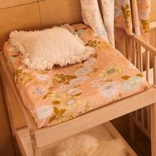 Peach Blossom Fitted Bassinet Sheet / Changing Pad Cover