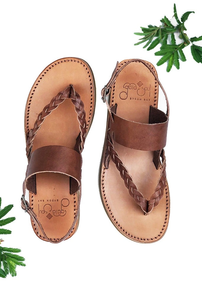 Tarifa Sandals - Moka Leather (Dark Brown)