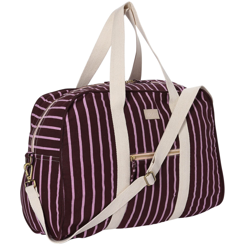 Stripey Rum Raisin Duffle Bag