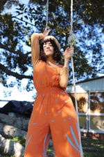 Desert Sky Jumpsuit - Burnt Orange