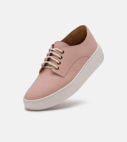 Derby City Snow - Pink Leather