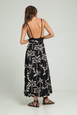 Wrap Skirt - Black Banana Leaf
