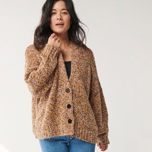 Knitted Short Cardigan - Dusk Til Dawn Melange