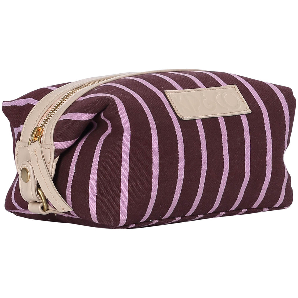 Stripey Rum Raisin Toiletry Bag