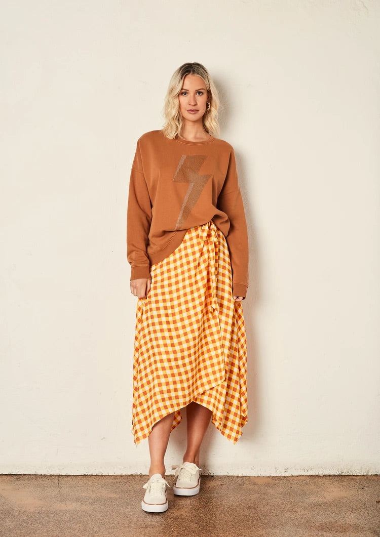 The Gingham Wrap Skirt - Sienna Gingham