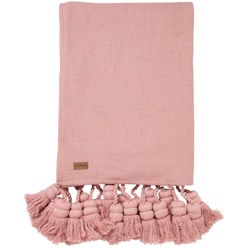 Misty Rose Tassel Throw