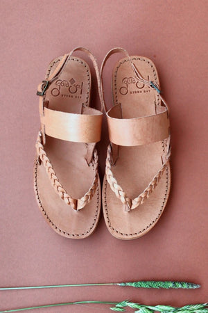 Tarifa Sandals - Leather ( Hazelnut )