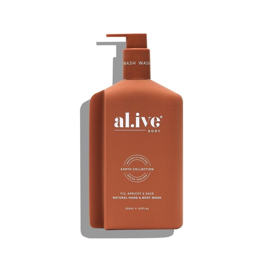 Fig, Apricot & Sage Hand & Body Wash, 500ml Pump bottle