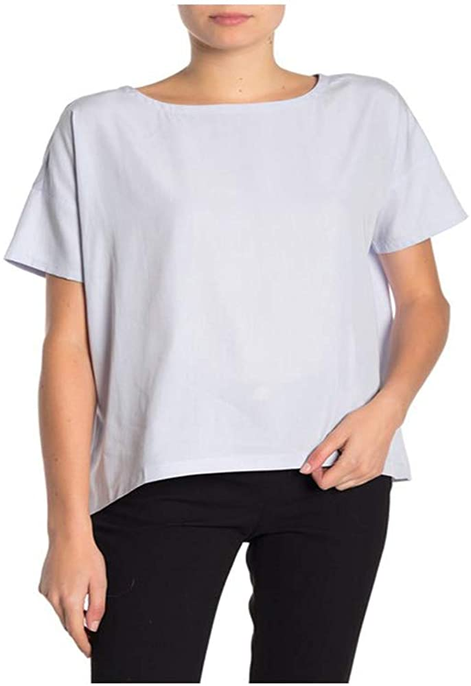 Eileen Fisher Insky Sandwashed Tencel Bateau Neck Top