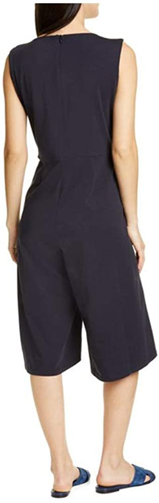 Eileen Fisher Ink Cotton Stretch Jersey Jumpsuit