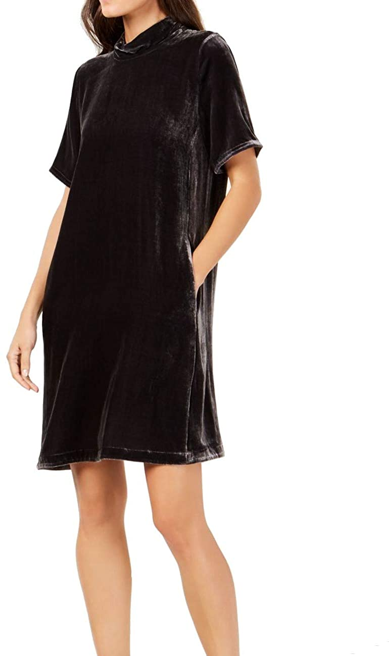 Eileen Fisher Womens Petites Velvet Shift Cocktail Dress