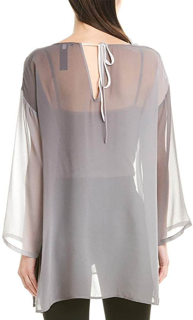 Eileen Fisher Womens Plus Silk Ombre Tunic Top