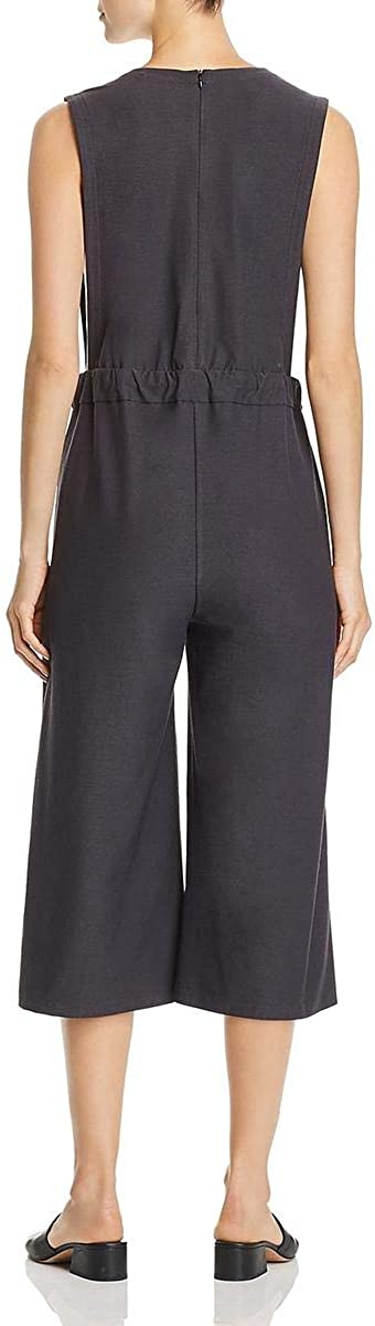 Eileen Fisher Womens V-Neck Cropped Jumpsuit