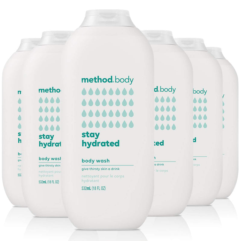 Method Body Wash, Stay Hydrated, 18 Ounce, 6 Count