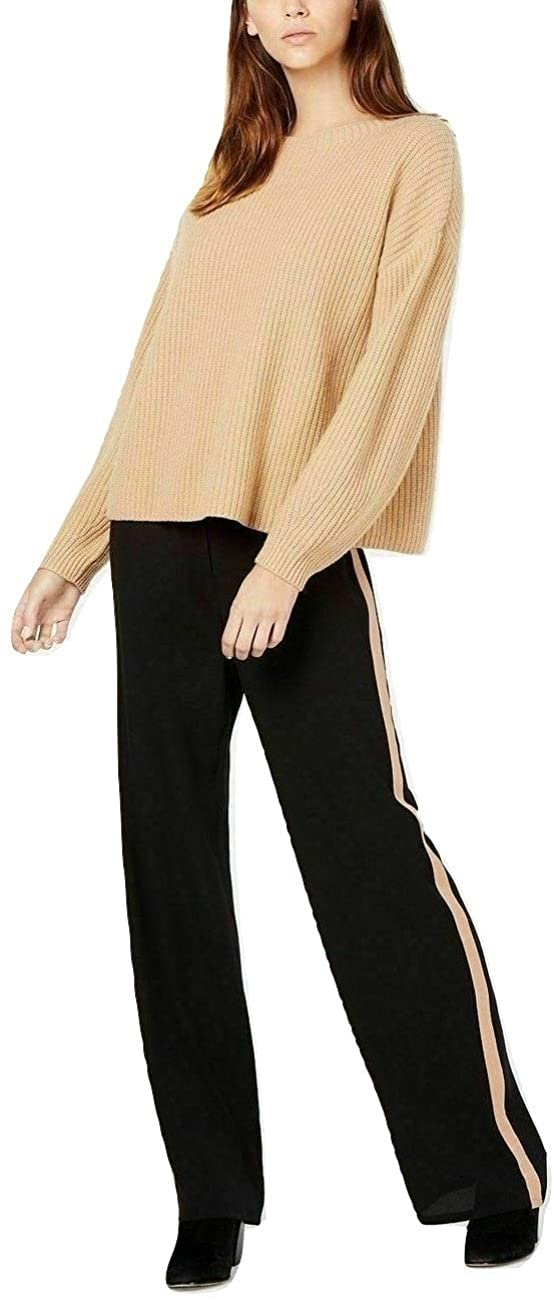 Eileen Fisher Womens Petites Silk Striped Straight Leg Pants