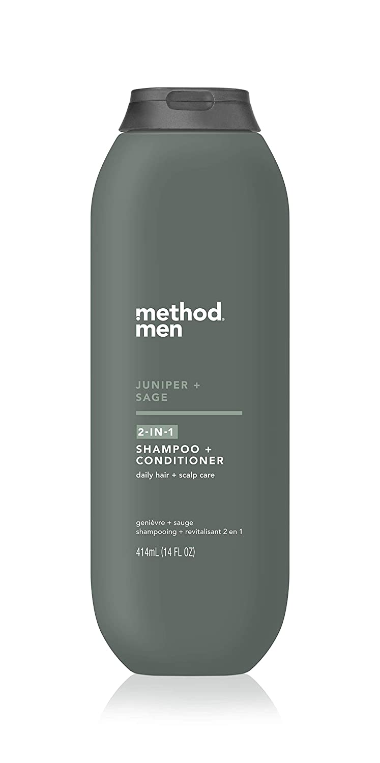 Method Men 2-in-1 Shampoo + Conditioner, Juniper + Sage, Pack Of 6, Juniper & Sage, 6 Count