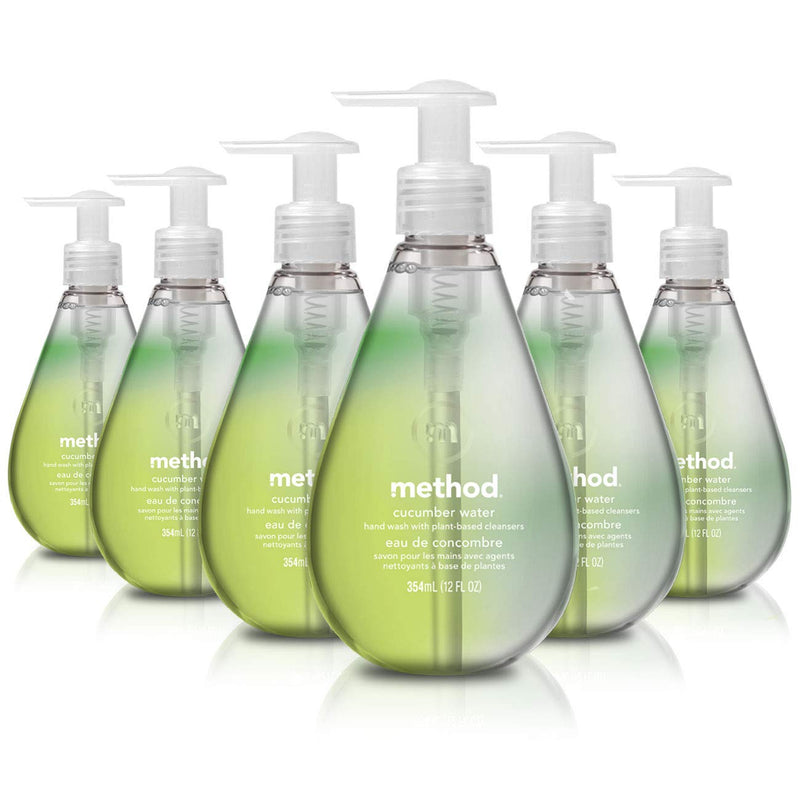 Method Gel Liquid Hand Soap, Cucumber Water, Pack Of 6, Cucumber Water, 6 Count