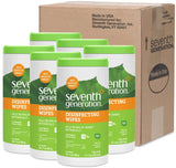 Seventh Generation Disinfecting Multi Surface Wipes, Botanical Disinfectant, 70 Count, Pack of 6