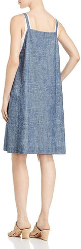 Eileen Fisher Womens Hemp Sleeveless Casual Dress