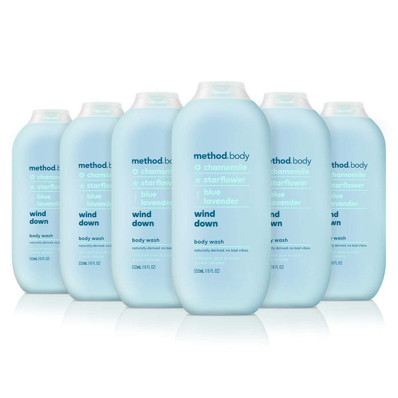 Method Body Wash, Wind Down, 18 Ounce, 6 Count