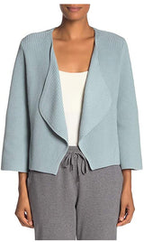 Eileen Fisher Corn Flower Organic Cotton Cord V-Neck Cardigan M L XL