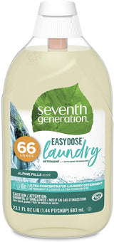 Seventh Generation Laundry Detergent, Ultra Concentrated EasyDose, Alpine Falls, 23 oz, 66 Loads (Packaging May Vary)