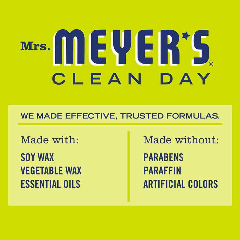 Mrs. Meyer's Clean Day Scented Soy Tin Candle with essential oils, Lemon Verbena Scented, 2.9 oz
