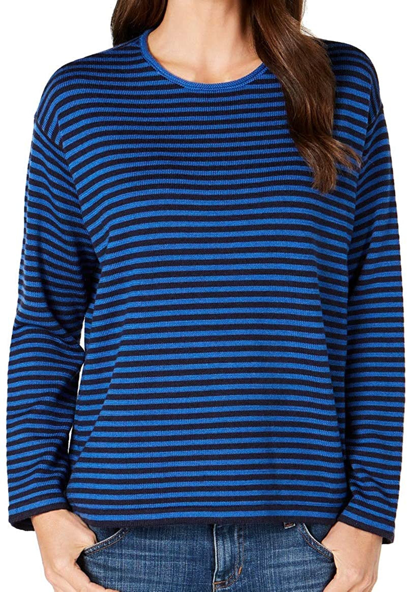 Eileen Fisher Womens Striped Pullover Sweater