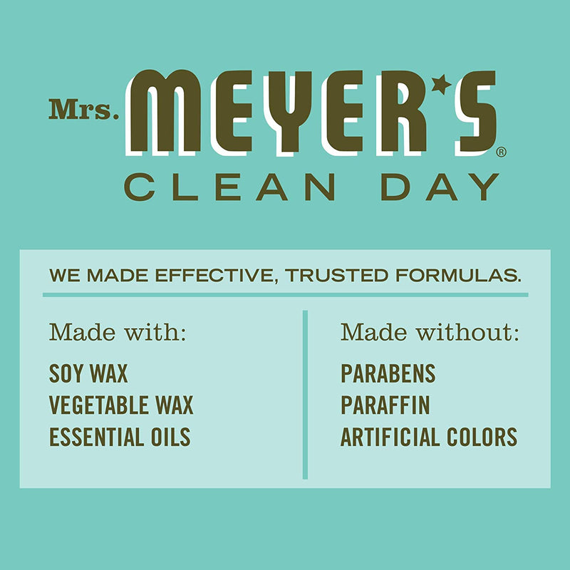 Mrs. Meyer's Clean Day Scented Soy Tin Candle with essential oils, Basil Scented, 2.9 oz