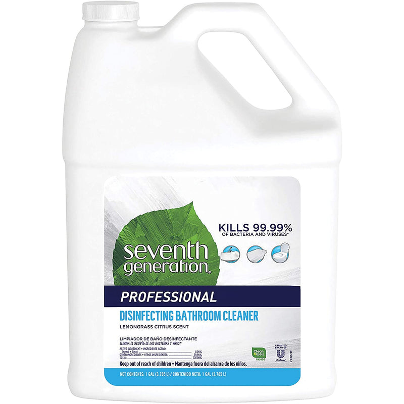Seventh Generation Professional Disinfecting Bathroom Cleaner Refill, Lemongrass Citrus, 128 fl oz (Pack of 2)