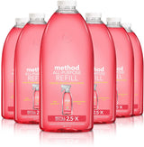 Method All Purpose Cleaner Refill, Pink Grapefruit, 68 Fl Oz (Pack of 6)
