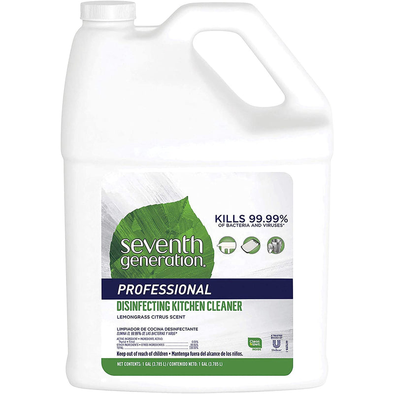 Seventh Generation Professional Disinfecting Kitchen Cleaner Refill, Lemongrass Citrus, 128 fl oz (Pack Of 2)