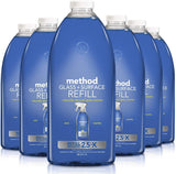 Method Glass Cleaner + Surface Cleaner Refill, Mint, 68 Ounce (Pack 6)