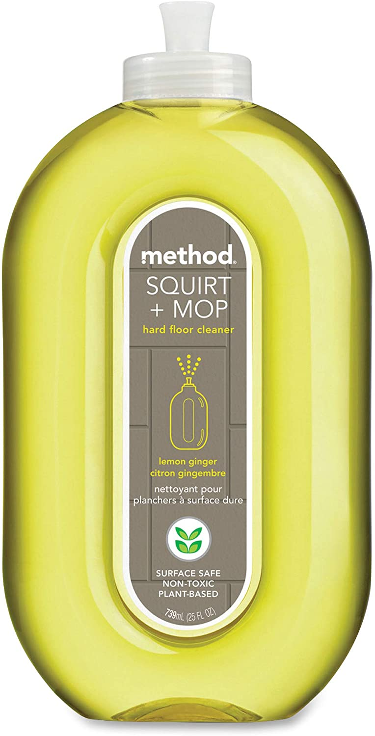 Method Squirt + Mop Hard Floor Cleaner, Lemon Ginger, 25 Fl Oz (Pack 6)