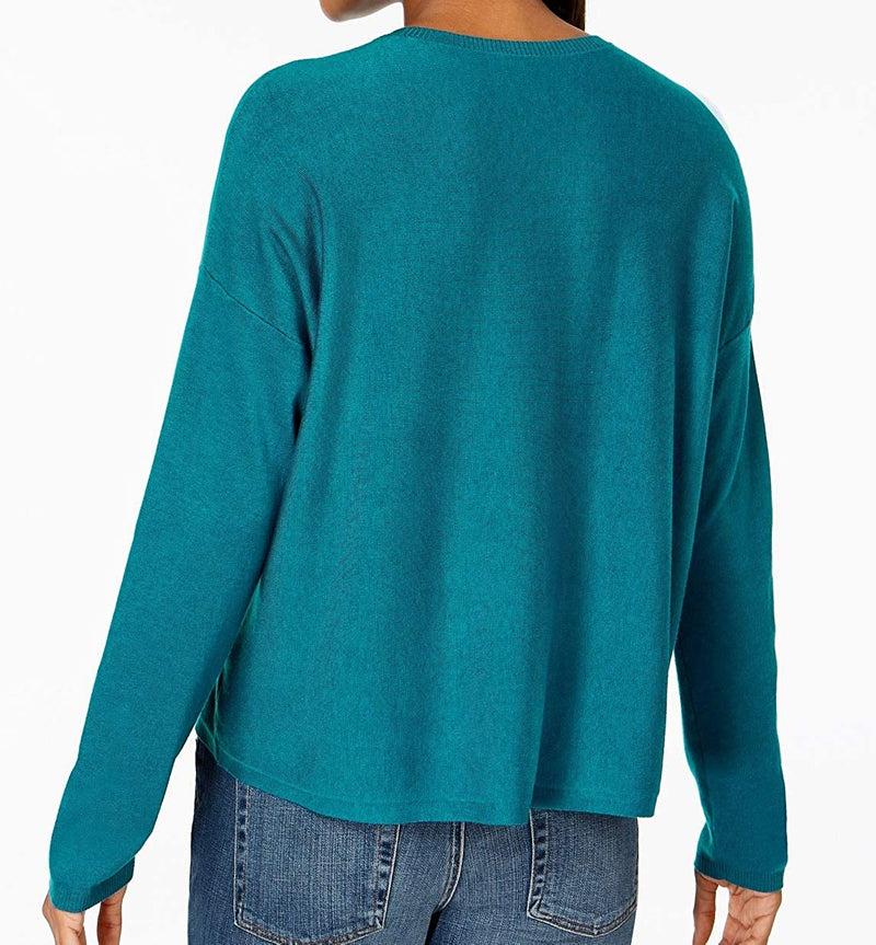 Eileen Fisher Womens Box Pullover Sweater