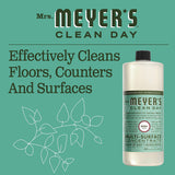 Mrs. Meyer's Clean Day Multi-Surface Cleaner Concentrate, Use to Clean Floors, Tile, Counters,Basil Scent, 32 oz- Pack of 2