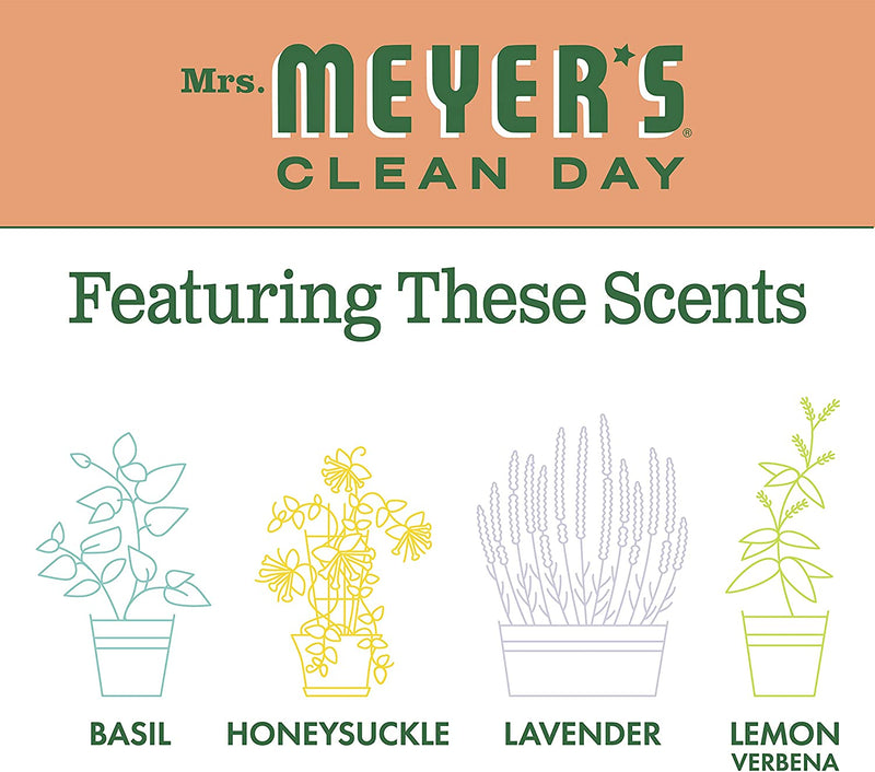 Mrs. Meyer's Clean Day Scented Soy Aromatherapy Candle, 35 Hour Burn Time, Made with Soy Wax, Geranium, 7.2 oz- Pack of 2