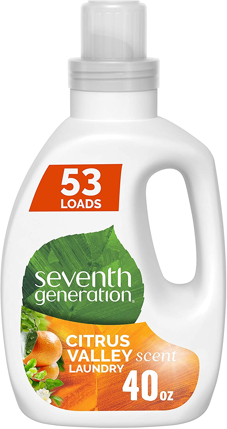 Seventh Generation Concentrated Laundry Detergent, Citrus Valley scent, 40 oz (53 Loads)