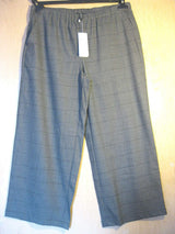 Eileen Fisher Stretch Flannel Plaid ASH Gray Pants XL M S MSRP $278.00